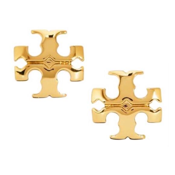 TORY BURCH • Gold Kira Logo Earrings